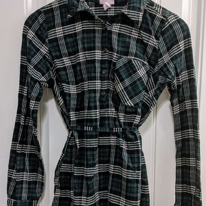 Plaid Maternity Tunic Flannel
